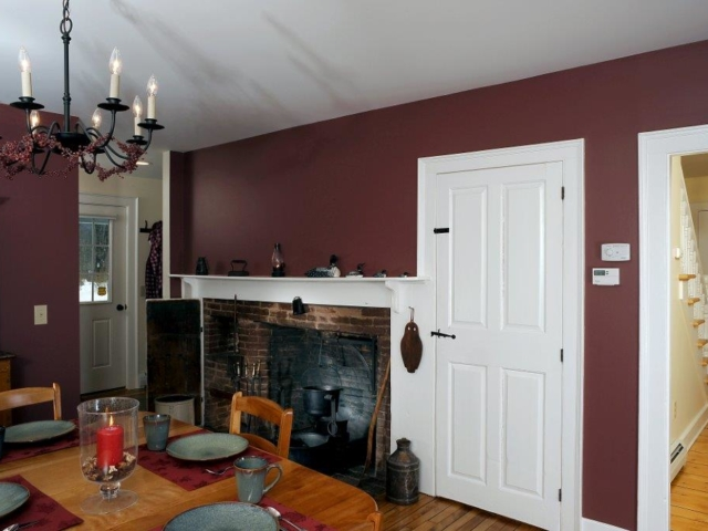 Renovated fireplace in 1800s renovation