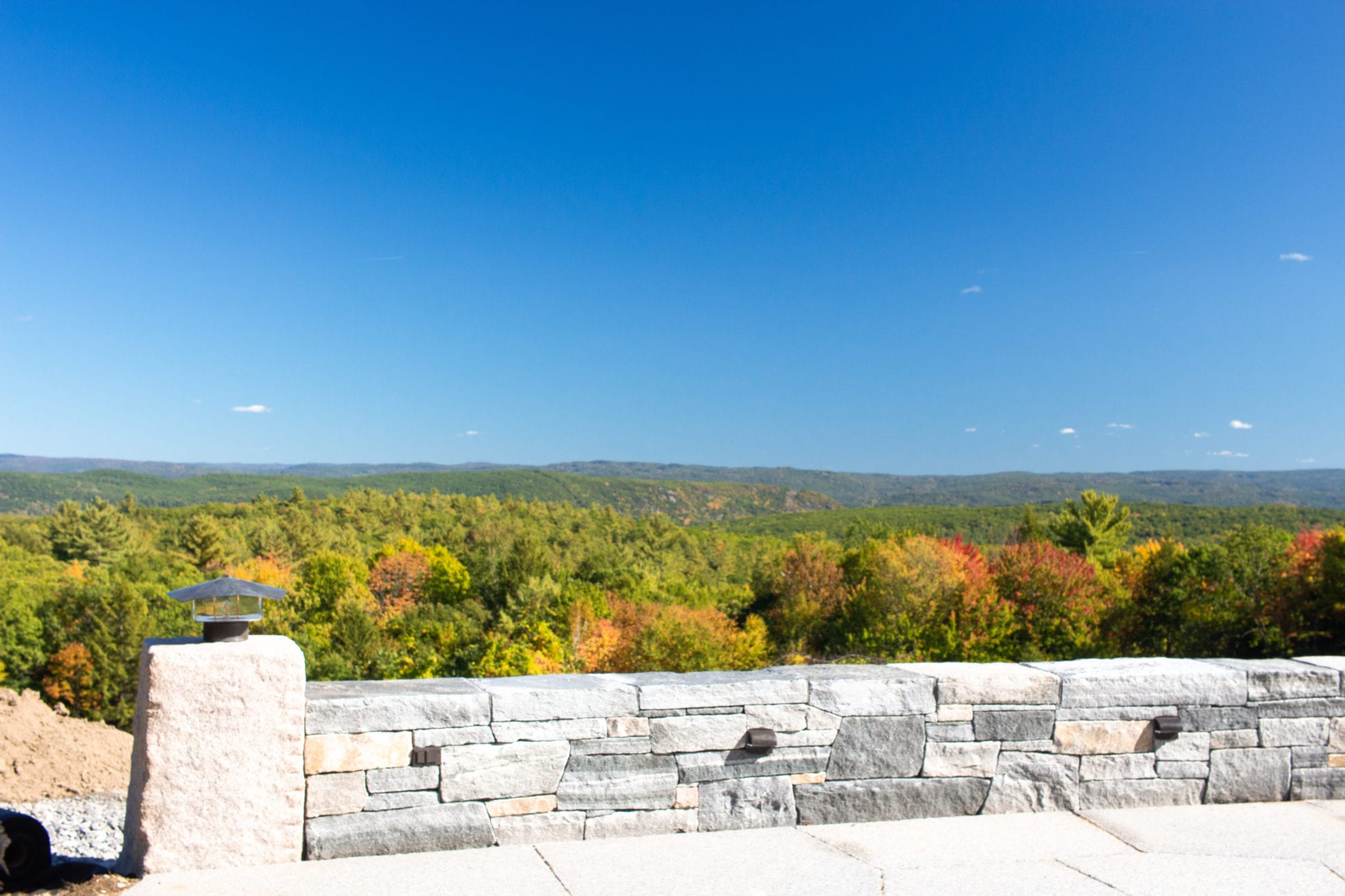 View from stone patio